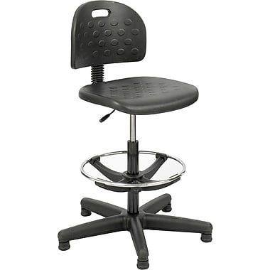 Safco® Soft Tough™ 6680 Polyurethane Economy Workbench Chair, Black