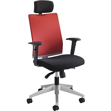 Safco 7030TA Tez Fabric High-Back Managers Chair with Adjustable Arms, Tabasco/Black