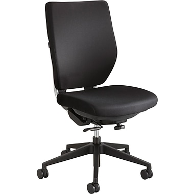 Safco High-Back Fabric Task Chair, Armless, Black