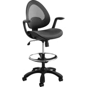 Safco® 7066 Helix Extended Height Chair, Black