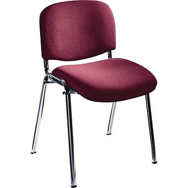 Safco® 7400 Visit Upholstered Stacking Chair, Burgundy