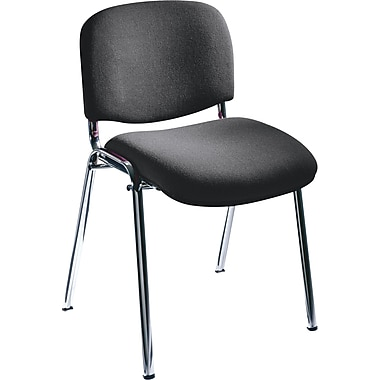 Safco® 7400 Visit Upholstered Stacking Chair, Black