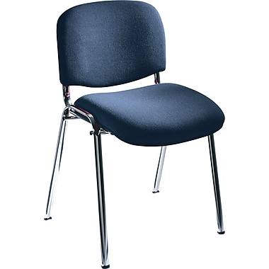Safco® 7400 Visit Upholstered Stacking Chair, Navy
