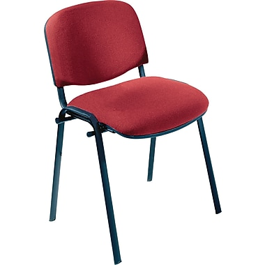 Safco® 7410 Visit Upholstered Stacking Chair, Burgundy