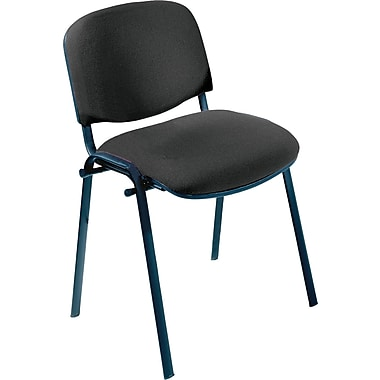 Safco® 7410 Visit Upholstered Stacking Chair, Black