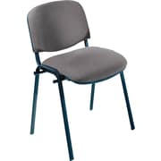 Safco® 7410 Visit Upholstered Stacking Chair, Gray