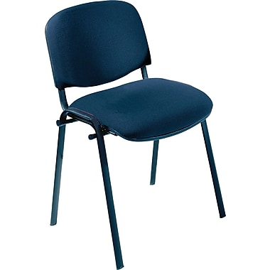 Safco® 7410 Visit Upholstered Stacking Chair, Navy