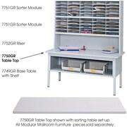 Safco® E-Z Sort® 7750 Sorting Tabletop, Gray