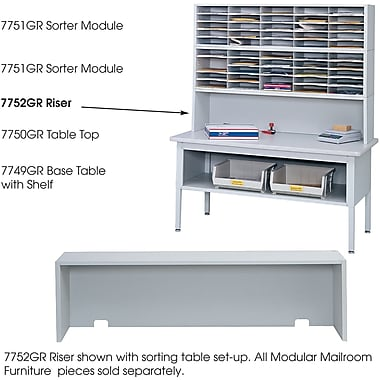 Safco® E-Z Sort® 7752 Mail Sorter Riser, Gray