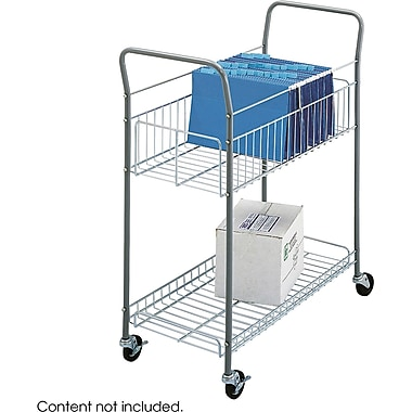 Safco® 7754 Economy Mail Cart, Metallic Gray Steel