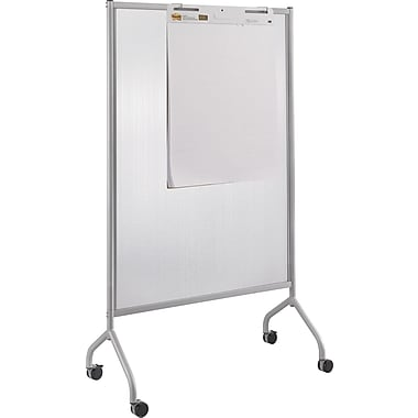 Safco® Impromptu® 8510 42in.(W) x 72in.(L) Full Polycarbonate Screen, Metallic Gray