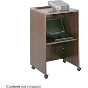 Safco® 8917 Lectern Base/Media Cart, Mahogany