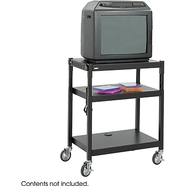 Safco® 8932 Steel Adjustable Height Cart, Black