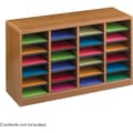 Safco® E-Z Stor® 9311 Literature Organizer, 23in.(H) x 40in.(W) x 11 3/4in.(D), Medium Oak