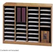 Safco® E-Z Stor® 9321 Literature Organizer, 32 1/2in.(H) x 40in.(W) x 11 3/4in.(D), Medium Oak