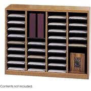 Safco® E-Z Stor® 9321 Literature Organizer, 32 1/2(H) x 40(W) x 11 3/4(D), Medium Oak