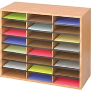 Safco® 9402 Literature Organizer, 23 1/2(H) x 29(W) x 12(D), Medium Oak