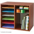 Safco® 9420 Adjustable Literature Organizer, 16in.(H) x 19 1/2in.(W) x 12in.(D), Cherry