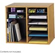 Safco® 9420 Adjustable Literature Organizer, 16in.(H) x 19 1/2in.(W) x 12in.(D), Medium Oak