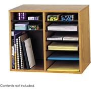 Safco® 9420 Adjustable Literature Organizer, 16(H) x 19 1/2(W) x 12(D), Medium Oak