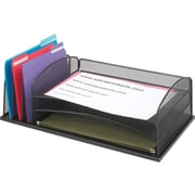 Safco® Onyx™ 9439 B-Size 3 Horizontal/3 Upright Sections Desktop Organizer, 3 Compartments, Black