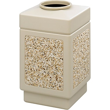 Safco® Canmeleon™ 9471TN Top Opening Square Aggregate Panel, Tan, 38 gal.