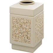 Safco Canmeleon 38 gal. Plastic Open Top Aggregate Panel without Lid, Tan
