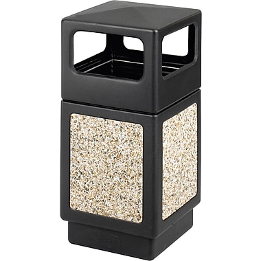 Safco® Canmeleon™ 9472NC Side Opening Square Aggregate Panel, Black, 38 gal.