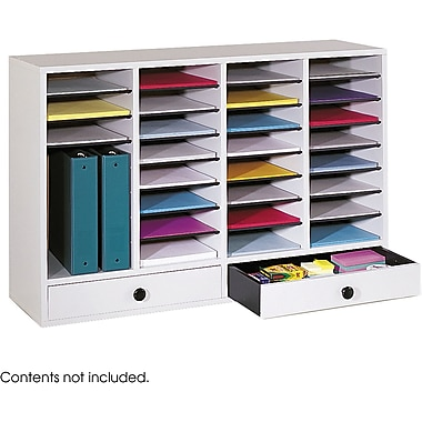 Safco® 9494 Adjustable Literature Organizer, 25 1/4in.(H) x 39 1/4in.(W) x 11 3/4in.(D), Gray
