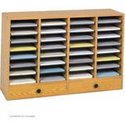 "Safco® 9494 Adjustable Literature Organizer, 25 1/4""(H) x 39 1/4""(W) x 11 3/4""(D), Medium Oak"