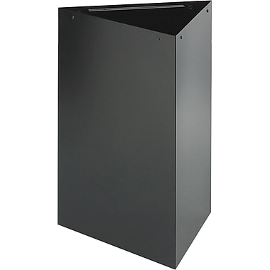 Safco® Trifecta® 9550 Triangular Waste Receptacle, Black, 15 gal