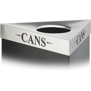 Safco Trifecta Stainless Steel Triangular Cans Lid, Silver