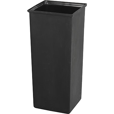 Safco® 9668 Rectangular Waste Receptacle-Rigid Liner, Black, 21 gal