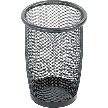 Safco® Onyx™ 9716 Black Mesh Round Wastebasket, Small