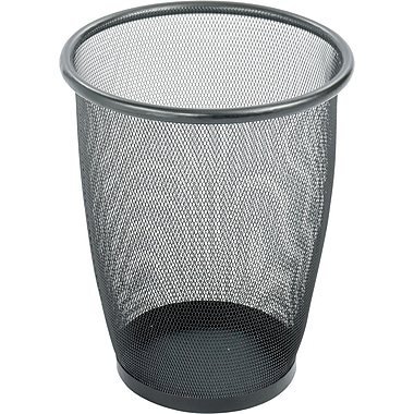 Safco® Onyx™ 9717 Black Mesh Round Wastebasket, Medium