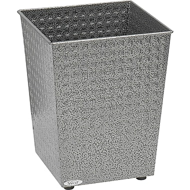 Safco® 9733 Checks Wastebasket, Black Speckle