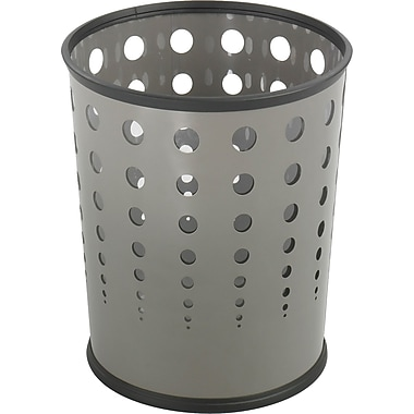 Safco® 9740 Bubble Wastebasket, Gray