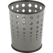 Safco 6 gal. Polyvinyl Chloride Trash Can without Lid, Gray
