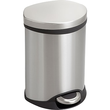 Safco® 9900 Medical Receptacle, 1.5 gal, Stainless Steel