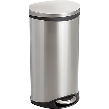 Safco® 9902 Medical Receptacle, Stainless Steel, 7.5 gal.