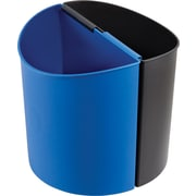 Safco® 9927 Desk-Side Small Recycling Receptacle, Blue/Black, 3 gal