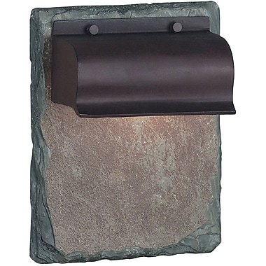 Kenroy Home Retron 1 Light Small Wall Lantern, Copper with Natural Slate Finish