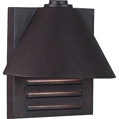 Kenroy Home Fairbanks 1 Light Small Wall Lantern, Copper Finish