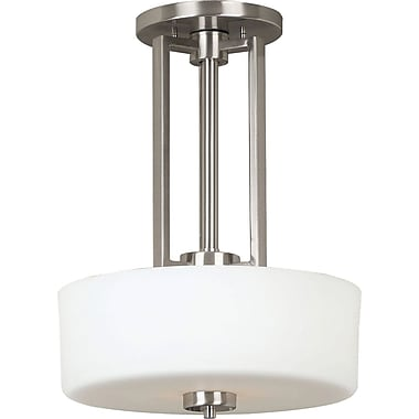 Kenroy Home Encounters 2 Light Convertible Pendant, Brushed Steel Finish
