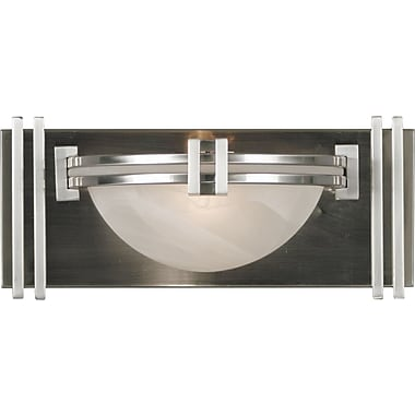 Kenroy Home Lumen 1 Light Wall Sconce, Brushed Steel Finish