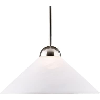 Kenroy Home Madison 1 Light Convertible Pendant, Brushed Steel Finish