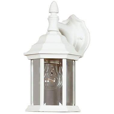 Kenroy Home Custom Fit 1 Light Wall Lantern, White Finish