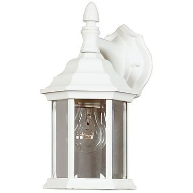 Kenroy Home Custom Fit 1 Light Wall Lantern, White Finish