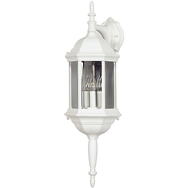 Kenroy Home Custom Fit 3 Light Wall Lantern, White Finish