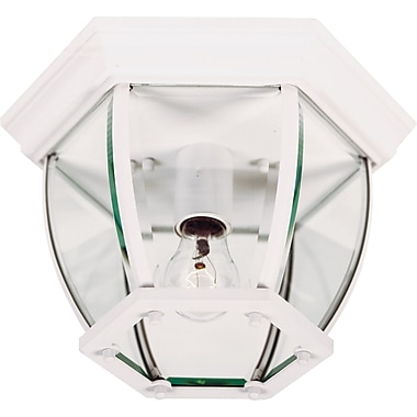 Kenroy Home Dural 1 Light Flush Mount, White Finish